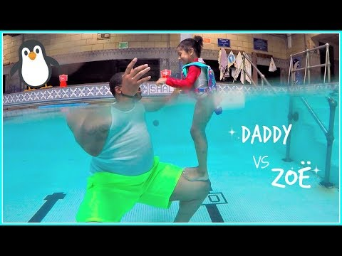 Daddy vs Daughter Underwater Pool Tricks!