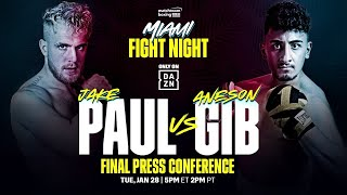 FINAL PRESS CONFERENCE | Jake Paul vs. AnEsonGib