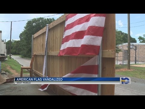 American flag ripped to shreds at west Mobile restaurant