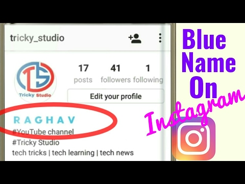 Make Your Instagram Name Blue & Bold | Without Root | Tricky Studio