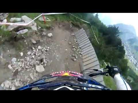 Huge jumps and fast sections on my race round at Crankworx Les2Alpes-Air DH