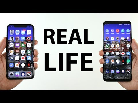 REAL LIFE Samsung Galaxy S9 Plus vs iPhone X Speed Test!