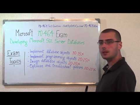 70-464 – Developing Exam Microsoft SQL Server Test Databases Questions