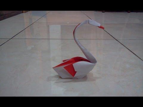 How to make Origami swan (hoang tien quyet)