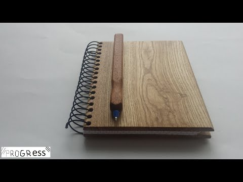 Notebook wooden cover