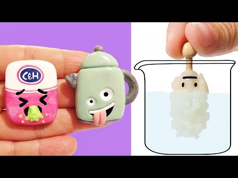 EXPERIMENT VS ROCK CANDY SCIENCE EMOJIS! Polymer Clay Tutorial