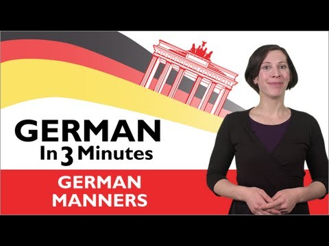 Learn German - German in Three Minutes  - Thank You & You're Welcome in German
