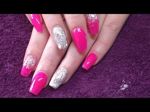 Acrylic Nails | Clients Neon Pink