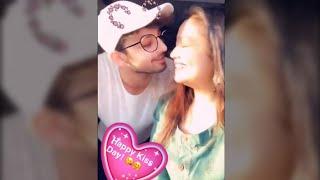 Neha Kakkar and Himansh Kohli Kiss Day celebration 😘