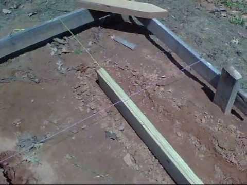 Concrete Form Boards Installation (Building My Shop)