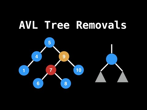 AVL tree removals