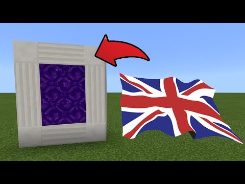 How To Make a Portal to the United Kingdom Dimension in MCPE (Minecraft PE)