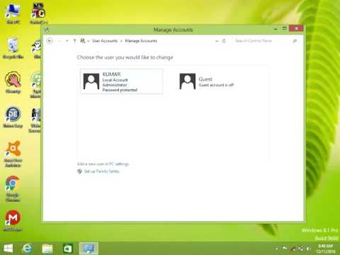 How to remove password in windows 8.1