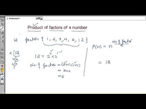 Product of factors of a number