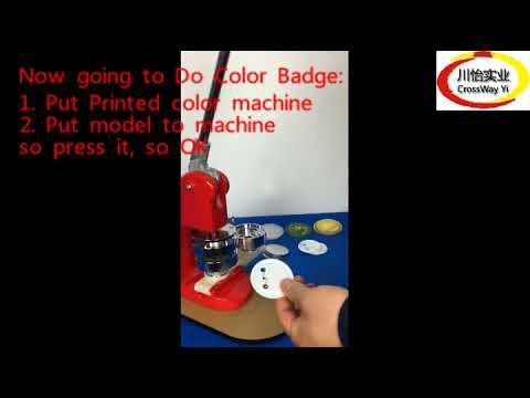 Plastic Metal Button Maker - Badge Making Machine