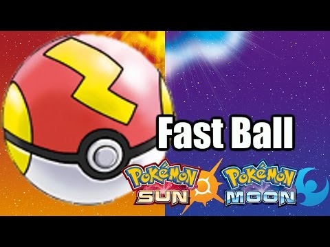 How to get the Fast Ball in Pokemon Sun & Moon