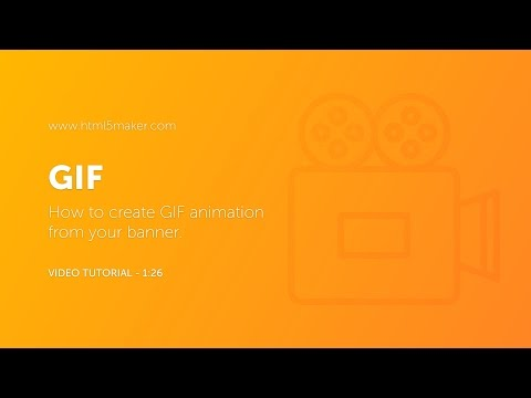 How to create GIF animation from HTML5Maker banner