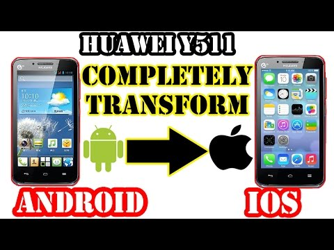 Huawei y511 | Completely Transform Android into IOS 5 (INSTALL A CUSTOM ROM IOS)