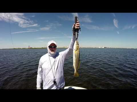Catching Redfish In Redfish Bay Flats , Aransas Pass Texas.