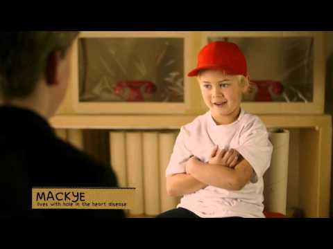 Mackye lives with a hole in the heart
