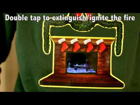 Crackling Fireplace Ugly Christmas Sweater- Digital Dudz Christmas 2013
