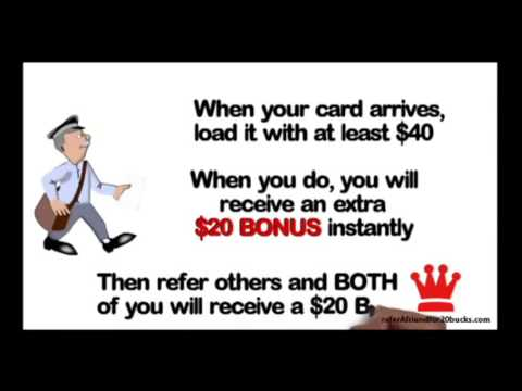 MAKE MONEY GIVING AWAY FREE DEBIT CARDS!