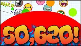 """50,620 MASS HIGHSCORE!!"" - AGARIO BIGGEST CELL SCORE EVER! (Agar.io Epic Gameplay)"