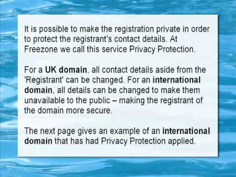 How the 'Whois' lookup system can be used to find information about a domain name