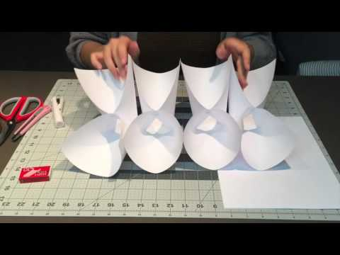 how to create paper lamp yourself / DIY paper lamp/ lights