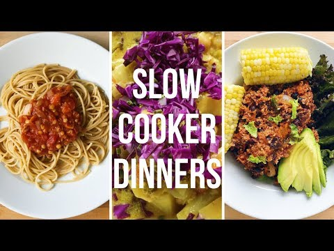 SLOW COOKER DINNER RECIPES (Vegan)