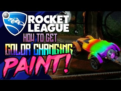 ROCKET LEAGUE: How To Get COLOR CHANGING PAINT! EASTER EGG (RAINBOW PAINT)