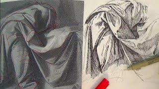 Pen and Ink Drawing Tutorial | How to draw a figure on a cross like