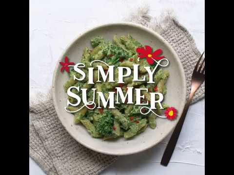 Vegan Pesto Pasta with Broccolini - Simply Summer