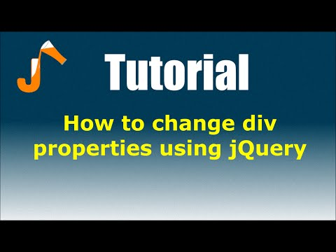 jQuery Tutorials: How to change div properties using jQuery