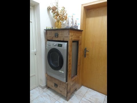 Easy cheap Washer or dryer pedestal