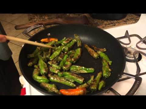 Nelson makes Shishito peppers