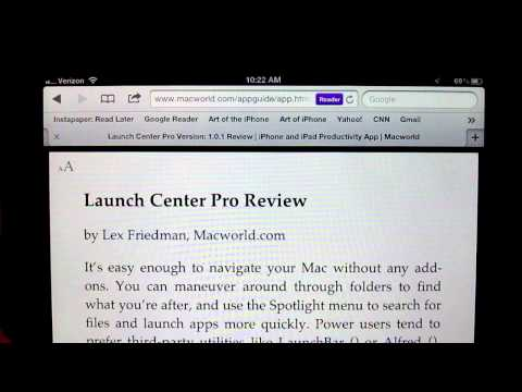 A Simple Tip for Making the iPhone/iPad's Reader Button More Useful