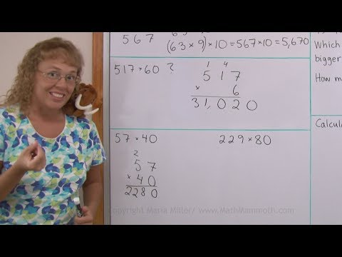 Shortcut for 2-digit multiplication when one factor is a multiple of ten