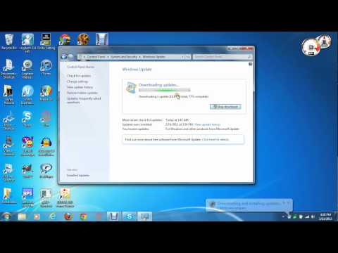 Checking and Installing Updates on Windows 7