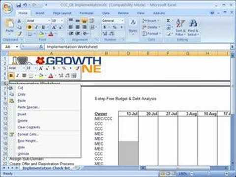 Hide and unhide rows and columns in Excel