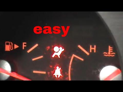 how to reset nissan 350Z airbag air bag light and infiniti G35 air bag reset.