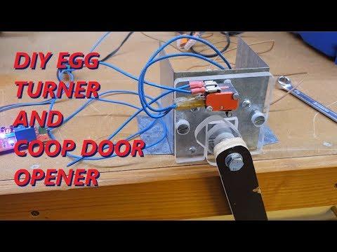 DIY Egg turner and automatic coop door opener - UNIVERSAL