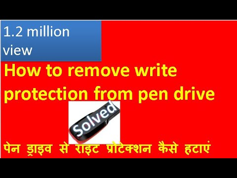 how to remove write protection from pen drive