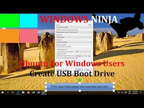 Ubuntu For Windows Users Create USB Boot Drive