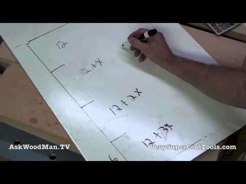 12 Four Drawer Bedside Table • Drawer Spacing Layout Algebra