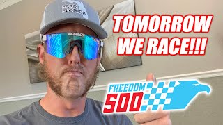 THE FREEDOM 500 RACE HAS BEEN MOVED TO TOMORROW!!!!!! (THURSDAY INSTEAD OF FRIDAY) April 2nd at 9pm!