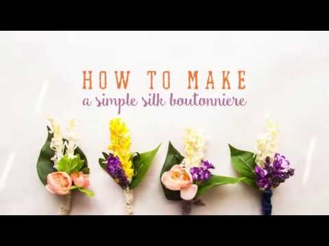 How to Make a Wedding Boutonniere || Silk Flowers || DIY