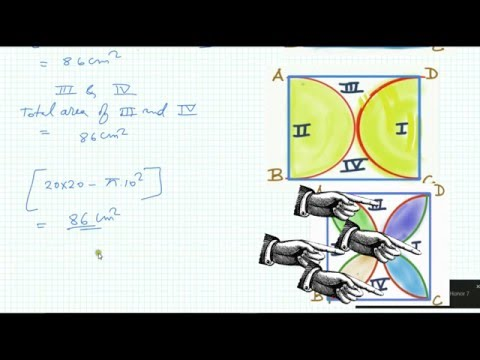 Critical Sum of a Four Semi Circle Inside a Square   Find area of shaded portion  Mensuration Part 4
