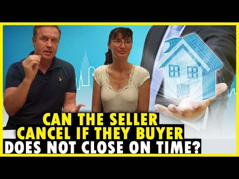 Can the seller cancel is the buyer doesn't close escrow on time