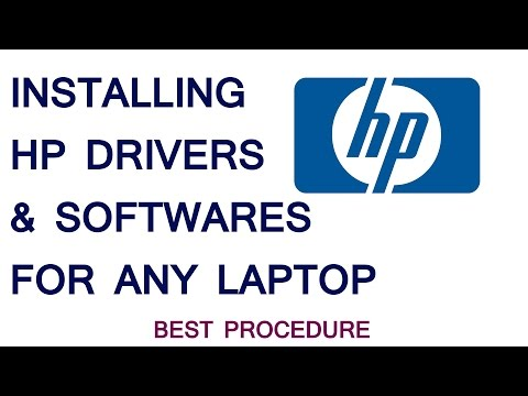 Installing HP drivers and softwares - Easiest Process